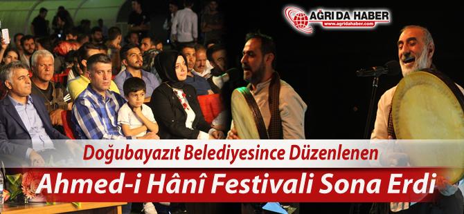 Doğubayazıt'ta düzenlenen Ahmed-i Hani Kültür, Sanat Ve Turizm Festivali Sona Erdi