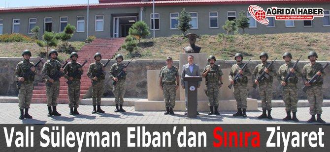 Vali Süleyman Elban 4. Hudut Tabur Komutanlığı'nı Ziyaret Etti