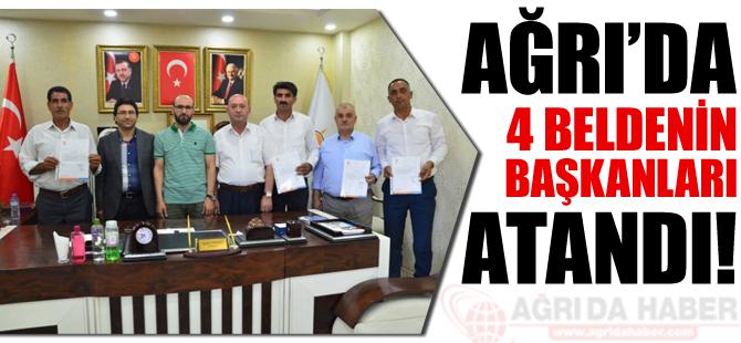 Ağrı'da 4 Belde Başkanı Ataması Yapıldı!