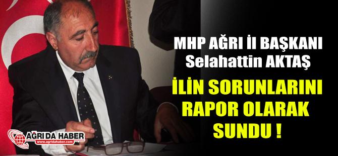 MHP Ağrı İl Başkanı Selahattin Aktaş Ağrı'nın Sorunları için rapor sundu