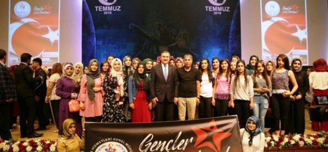 Ağrı'lı Gençler 'Gençler Asla Unutmaz' sloganıyla Ankara'ya gidiyor