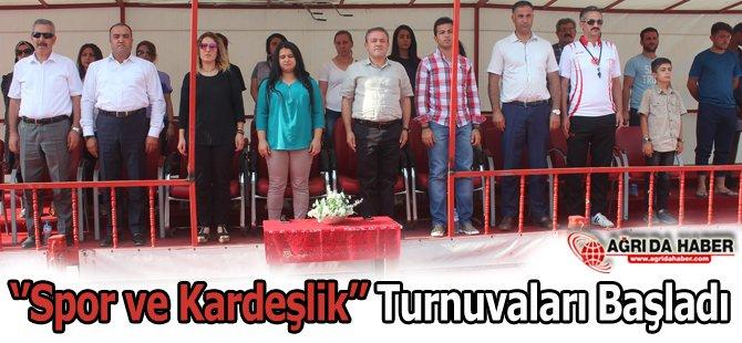 Doğu ve Güneydoğu Anadolu Kardeşlik ve Spor Turnuvaları Başladı