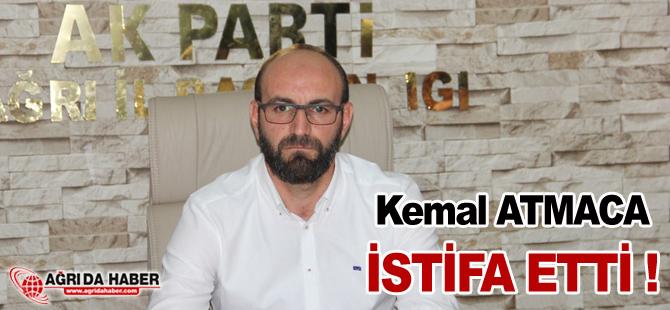 Ak Parti Ağrı İl Başkanı Kemal ATMACA İstifa Etti !