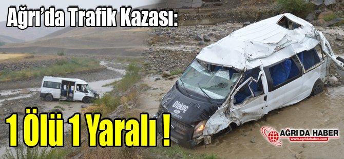 Ağrı'daki Trafik Kazası: 1 Ölü 1 Yaralı!