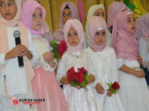 Eleşkirt'te, Kur'an Kurslarında Mezuniyet Töreni Yapıldı