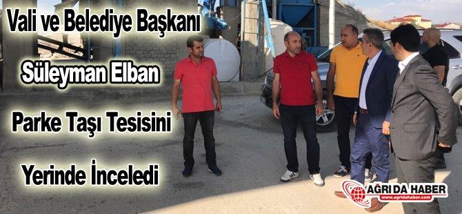 Belediye Başkanı Elban Parke Taşı Tesisini İnceledi