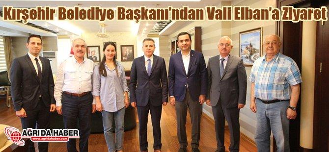 Kırşehir Belediye Başkanından Vali Elban'a Ziyaret