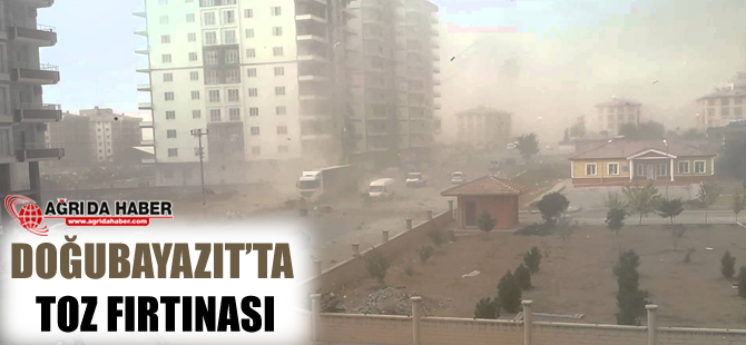 Doğubayazıt'ta Toz Fırtınası!
