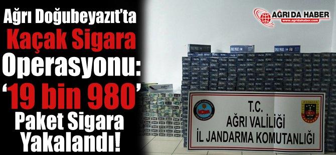 Ağrı'da Kaçak Sigara Operasyonu: 19 bin 980 Paket Sigara Yakalandı