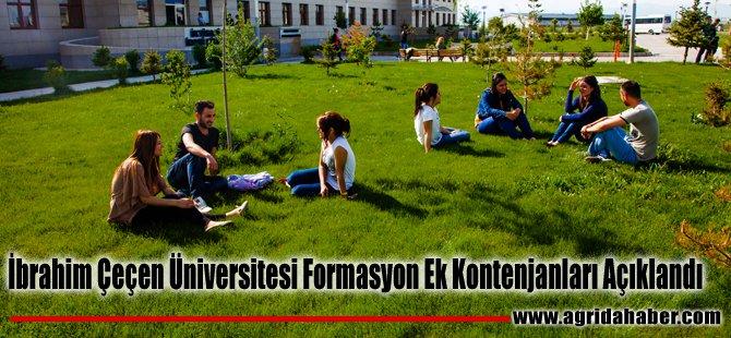 İbrahim Çeçen Üniversitesi Formasyon Ek Kontenjanları Açıklandı