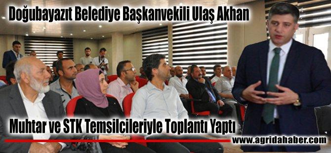 Doğubayazıt Belediye Başkanvekili Ulaş Akhan Muhtar ve STK Temsilcileri İle Toplantı Yaptı