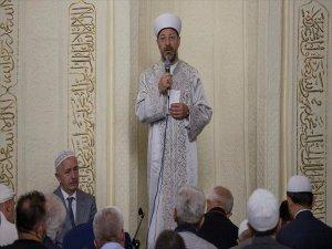 Yeni Diyanet İşleri Başkanı Erbaş Hacı Bayram Camisi'nde Sabah Namazı Kıldırdı