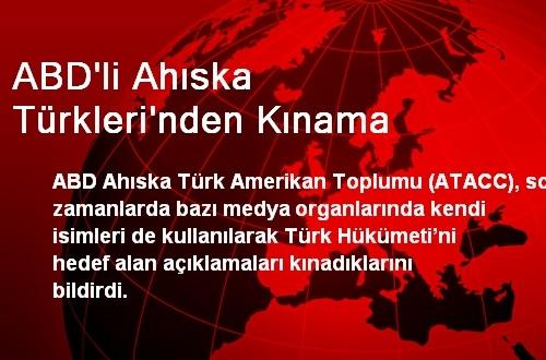 ABD'li Ahıska Türkleri'nden Kınama
