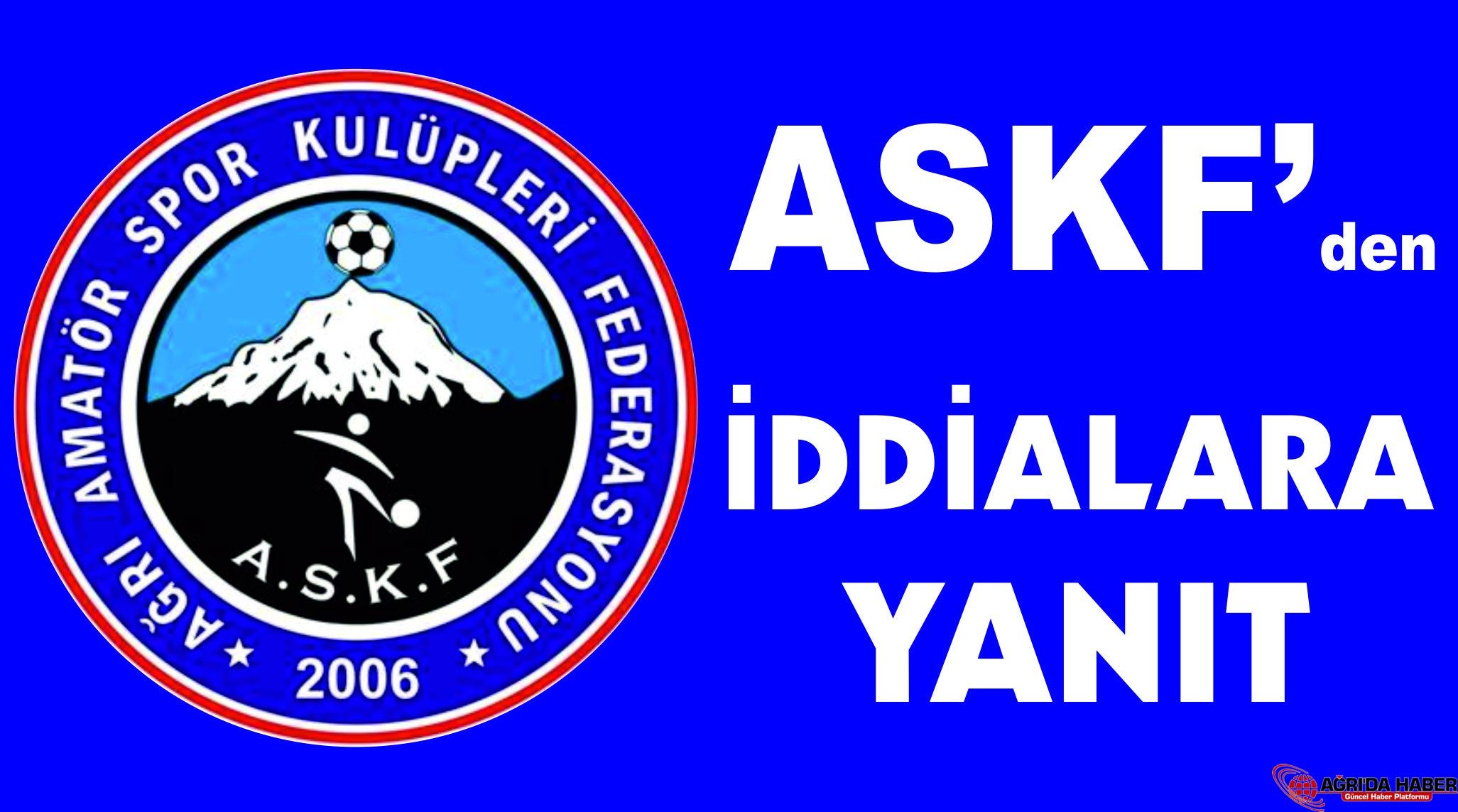 Ağrı ASKF 'den Spor Kamuoyuna Bilgilendirme