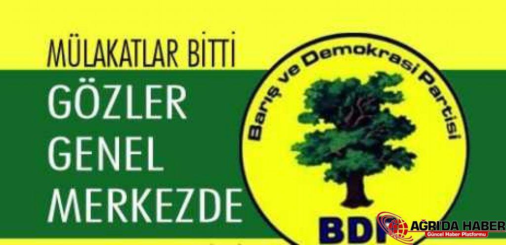 BDP'de mülakatlar tamamlandı