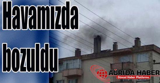 Ucuz kömür Ağrı'nın havasını bozdu