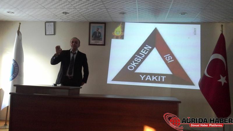 Ağrı Belediye Personeline İş Güvenliği Eğitimi Verildi