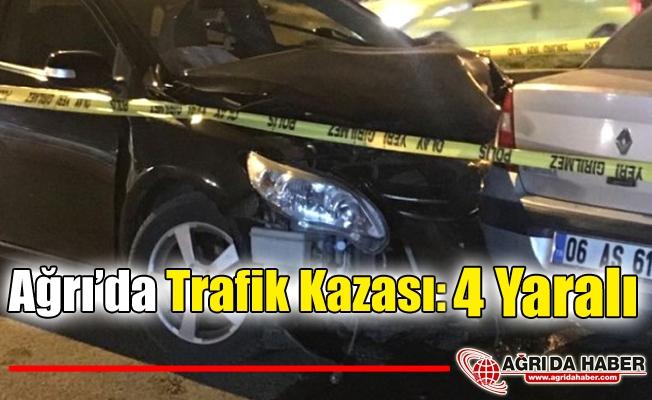Ağrı'da Trafik Kazası: 4 Yaralı