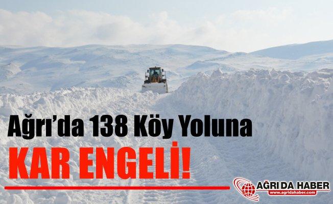 Ağrı'da 138 Köy Yoluna Kar Engeli! Ulaşıma Kapandı