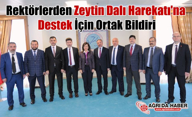 Rektörlerden Zeytin Dalı Harekatı'na Destek İçin Ortak Bildiri