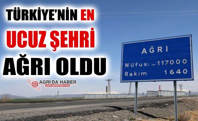 Türkiye'nin En Ucuz Şehri Ağrı Oldu