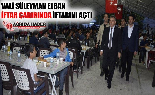 Vali Elban Ağrı Belediyesiİftar Çadırında İftar Yaptı