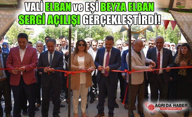Vali Elban ve Eşi Beyza Elban Sergi Açılışına Katıldı!