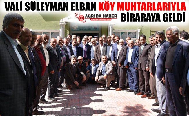 Vali Süleyman Elban Köy Muhtarlarıyla Biraraya Geldi!
