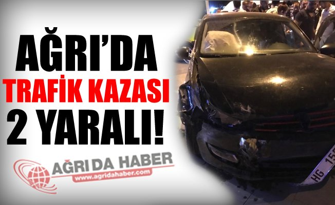 Ağrı'da Trafik Kazası Meydana Geldi! 2 Yaralı Var!