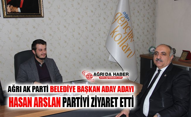 AK Parti Ağrı Belediye Başkan Aday Adayı Hasan Arslan'dan Partiye Ziyaret