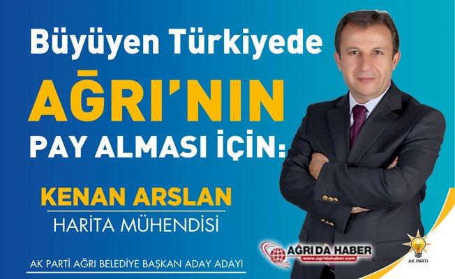 Kenan Arslan Ak Parti Ağrı Belediye Başkan Aday Adayı oldu