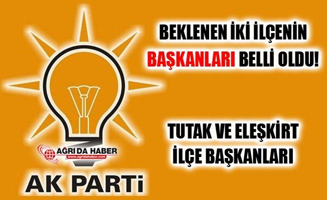 AK Parti Ağrı'da İki İlçe Başkanı Ataması Yapıldı