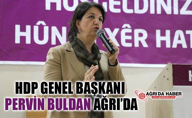 HDP Eş Genel Başkanı Pervin Buldan Ağrı'ya Geldi