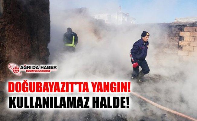 Ağrı Doğubayazıt'ta Yangın! 1 Ev Kullanılamaz Halde!