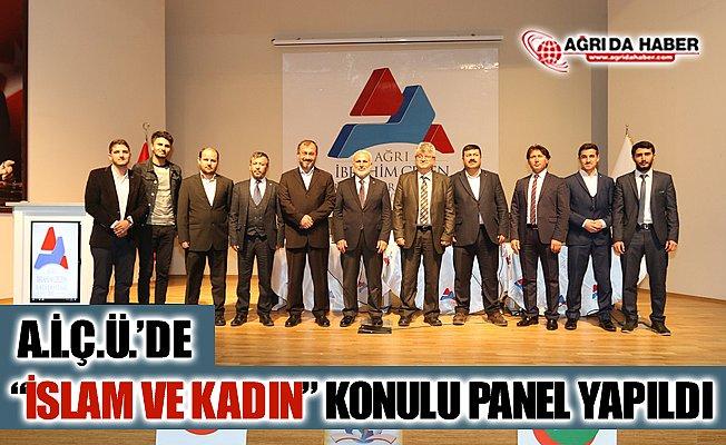 """A.İ.Ç.Ü.'de """"İslam ve Kadın"""" Konulu Panel Düzenlendi"""