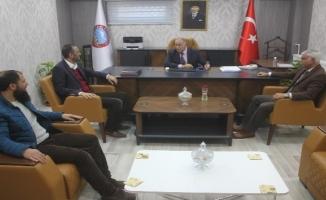 Ağrı Gazeteciler Cemiyeti'nden Ayhan Atmaca'ya Ziyaret