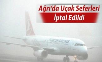 Ağrı'da Yoğun Sis Uçak Seferlerini İptal Ettirdi