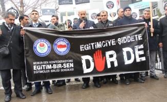 İzmir'de Vurulan Öğretmen İçin Ağrı'da Protesto Yapıldı