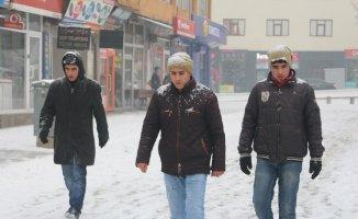 Ağrı'da dondurucu soğuklar yerini kar yağışına bıraktı