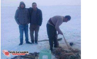 Buzla Kaplı Türkiyenin En Yüksek Gölünde Balık Avı