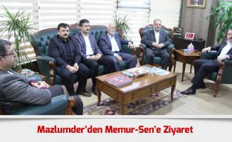 Mazlumder Genel Başkanı ve Heyetinden Memur-Sen'e Ziyaret