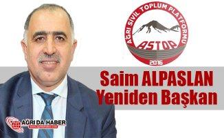 Ağrı Sivil Toplum Platformu (ASTOP) Başkanlığına Saim Alpaslan Yeniden Seçildi