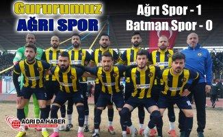 Ağrı 1970 Spor, 1955 Batman Spor'u 1-0 Mağlup etti
