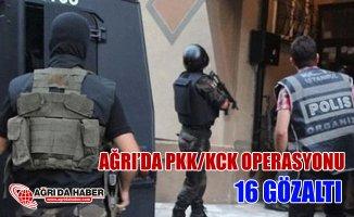 Ağrı'da PKK/KCK Operasyonu 16 gözaltı