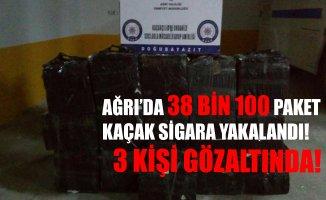 Ağrı'da 38 Bin 100 Paket Kaçak Sigara Yakalandı! 3 Kişi Gözaltında!