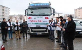 Ağrı'da Suriye'ye Yardım TIR'ı