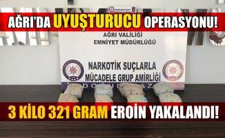 Ağrı'da Uyuşturucu Operasyonu! 8 Kilo 321 Gram Eroin Yakalandı