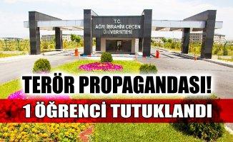 A.İ.Ç.Ü'de Terör Propagandası Yapan 1 Öğrenci Tutuklandı