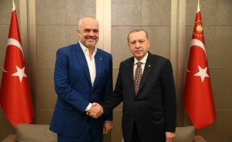 Arnavutluk Başbakanı Rama'yı kabul etti