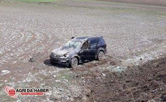Eleşkirt'te İkinci Kaza! Eleşkirt Belediye Başkanı'nın Aracı Şarampole Uçtu
